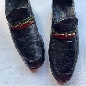 Bally Slip On Leather Loafer w/ Hardware
